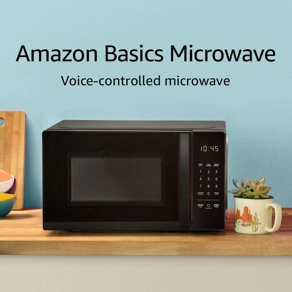 Amazon Basics Microwave, Small, 0.7 Cu. Ft, 700W, Works with Alexa - Tns super store