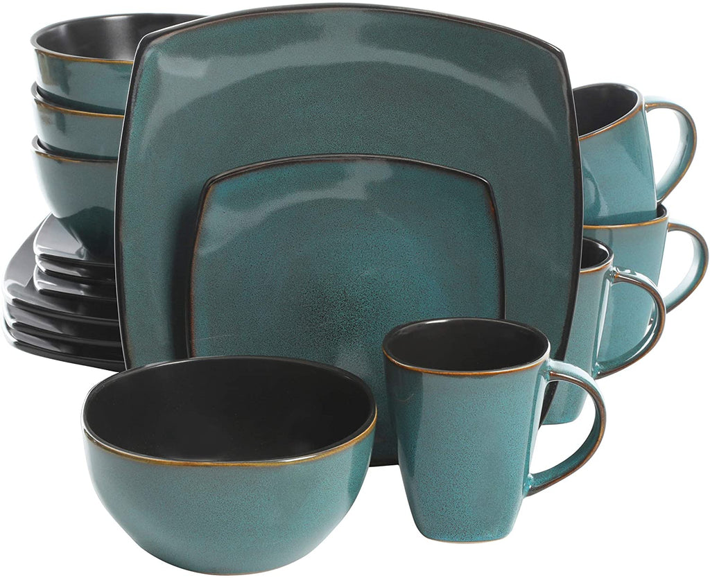 16 Piece Dinnerware Set, Teal - Tns super store