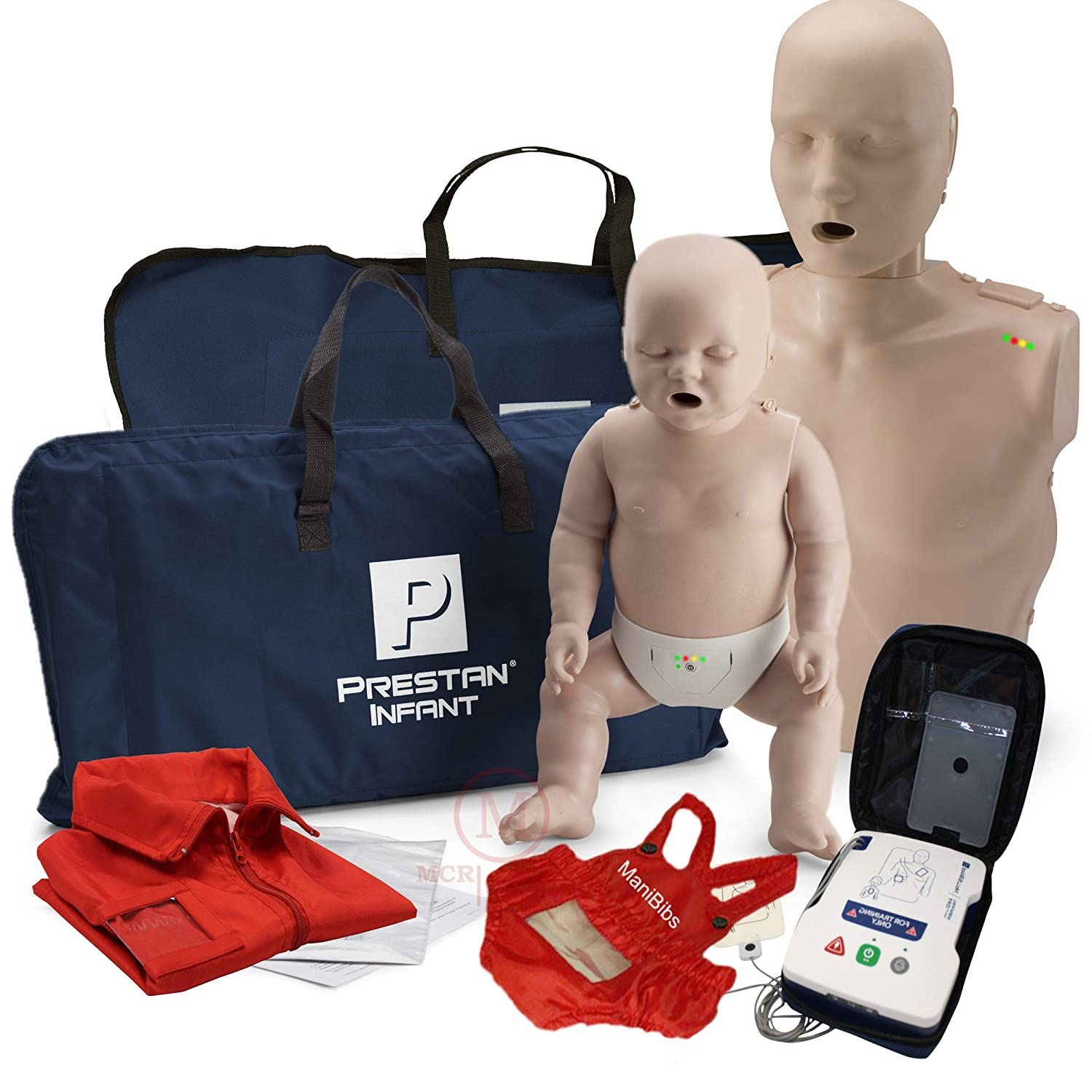 Adult and Infant CPR Manikin Kit with Feedback, Prestan UltraTrainer, and MCR Accessories - Tns super store