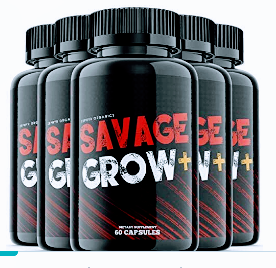 (5 Pack) Savage Grow Plus Pills Plush for Men Dietary Supplement Pulls Capsule Pil Savage Grow + Pills (300 Capsules) - Tns super store
