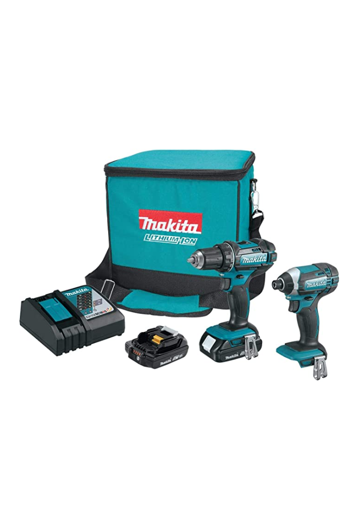 Makita CT225R 18V LXT Lithium-Ion Compact Cordless 2-Pc. Combo Kit (2.0Ah) - Tns super store