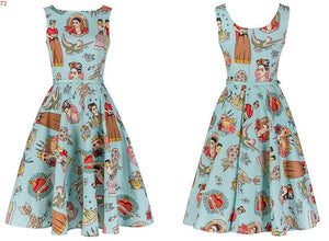 Open image in slideshow, Cowgirl Rockabilly Dress