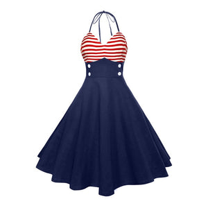 Open image in slideshow, Sailor Rockabilly Dress