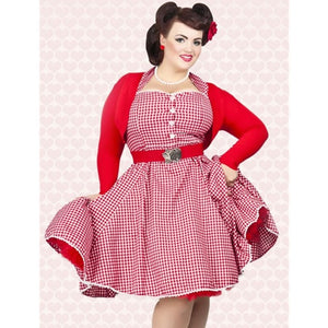 Open image in slideshow, 50's Style Swing Halter Pin Up Dress
