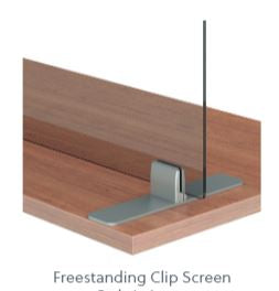 "Lexan 3/8"" Freestanding Clip Screens with Cut-Outs"