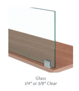 "Glass 1/4"" Worksurface Mount"