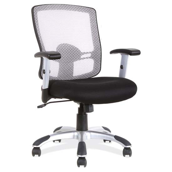 Mesh, Basic Task Chair with Chrome Base and Arms