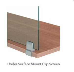 "Lexan 3/8"" Worksurface Mount Clip Screens without Cut-Outs"