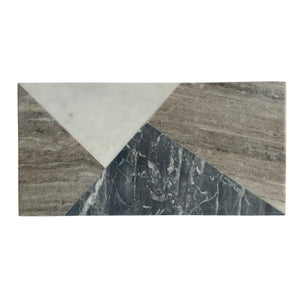 Geometric Marble Rectangular Board
