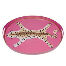 Load image into Gallery viewer, Oval Leopard Tray