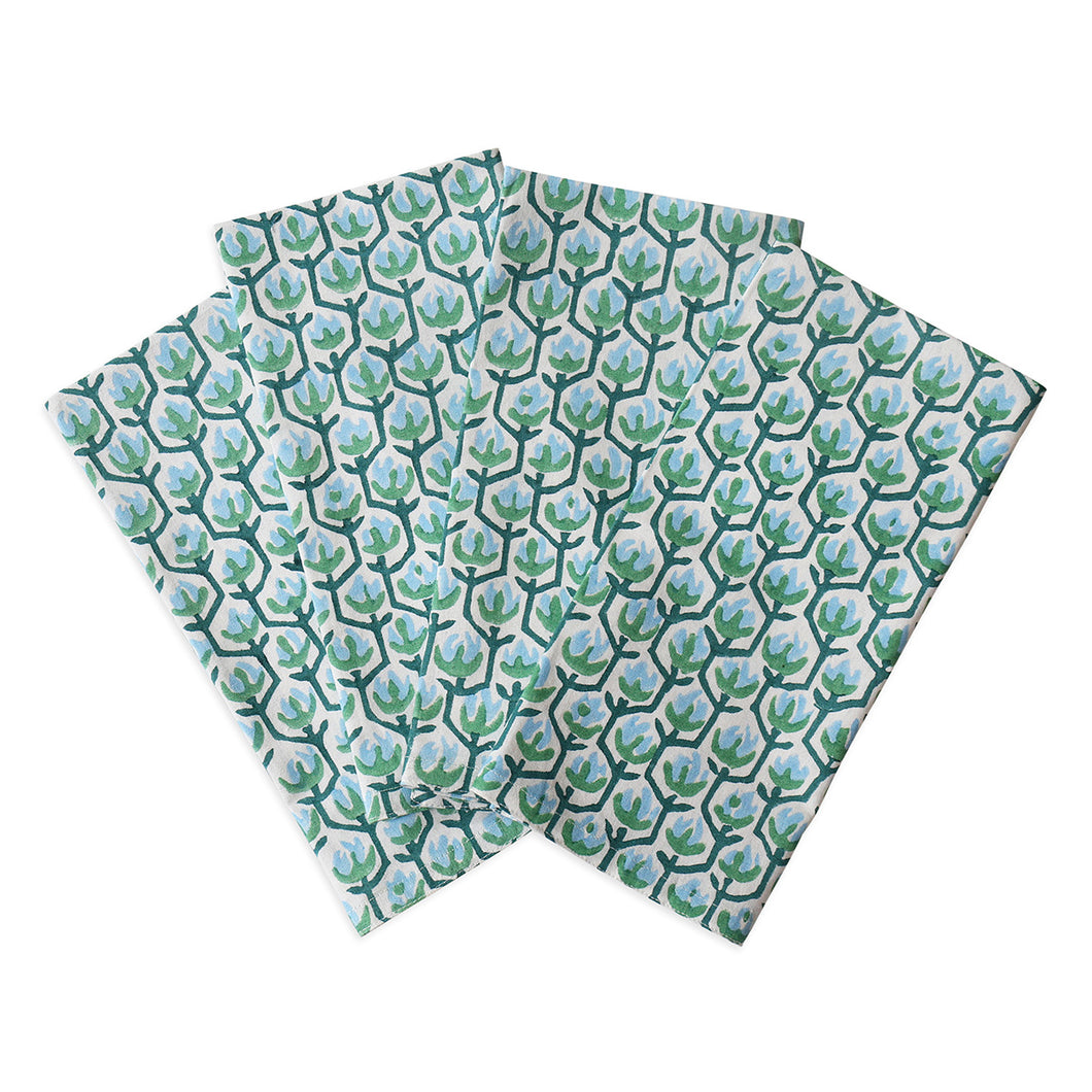 Hermosa Emerald Cotton Napkins (Set of 4)