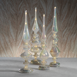 LED Cloud Luster Glass Finials