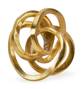 Large Gold Metal Knot Sculpture