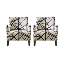 Load image into Gallery viewer, Lee Slipper Chair in Ebony/Ivory Channels, Pair