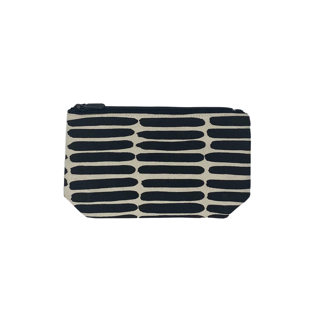 Black Basket Small Travel Pouch