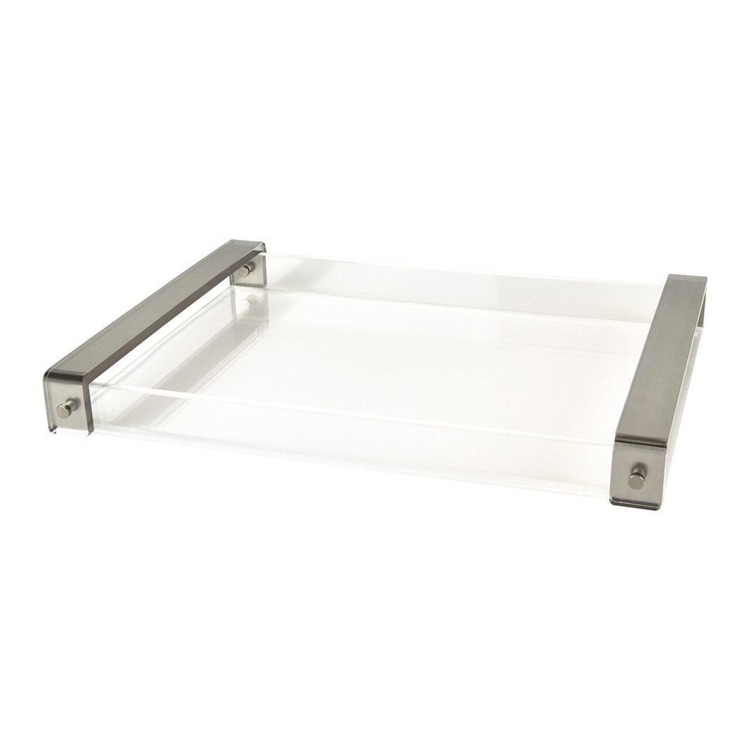 Lucite Tray With Handles