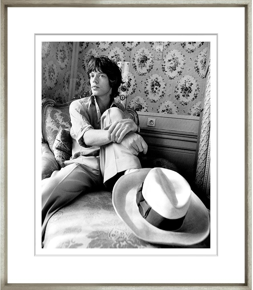 Mick Jagger Framed Black & White Print