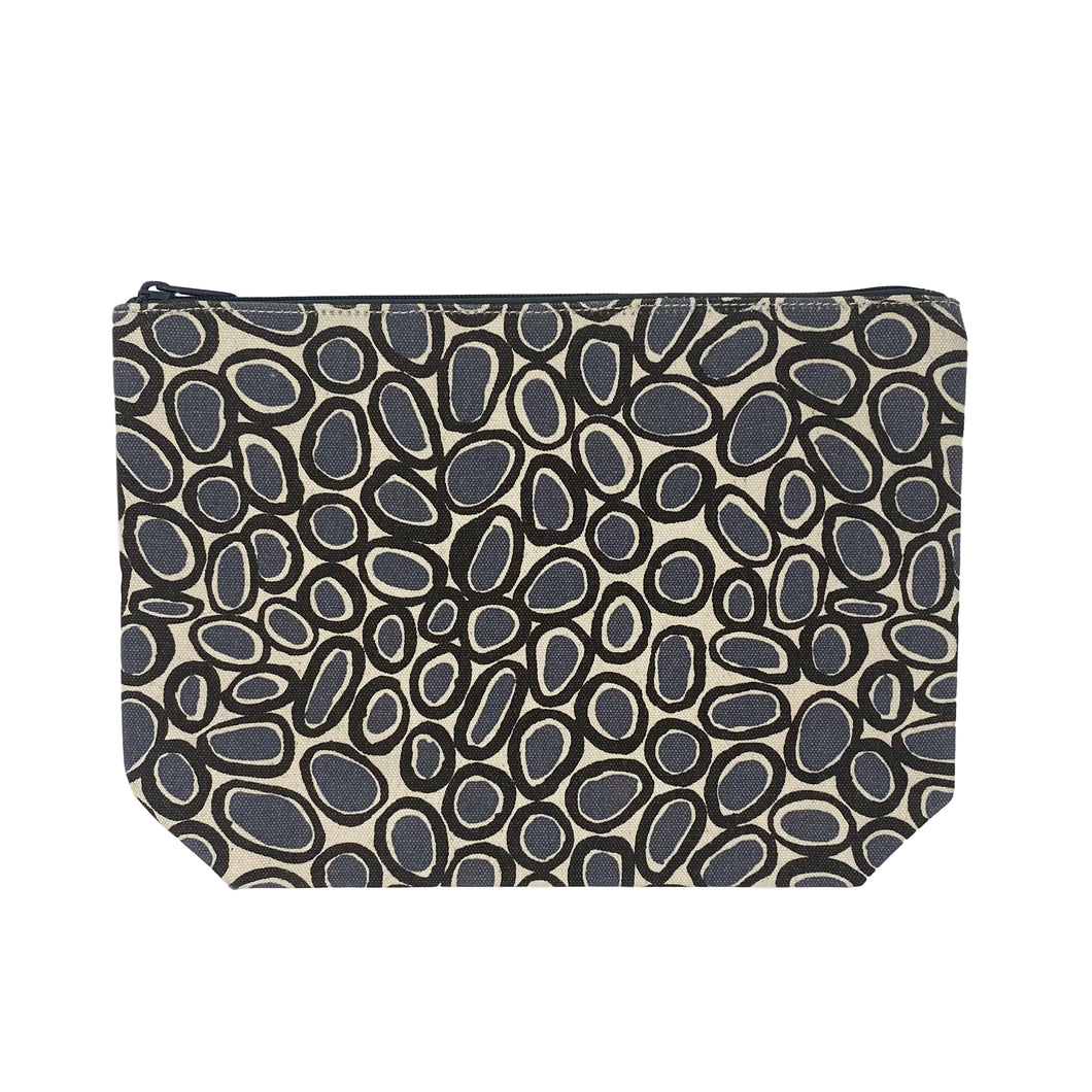 Black/Grey Gems Extra Large Travel Pouch