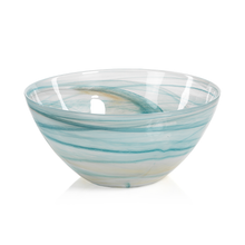 Load image into Gallery viewer, Alabaster Lagoon Glass Bowl