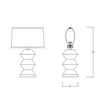 Load image into Gallery viewer, White Derby Table Lamp