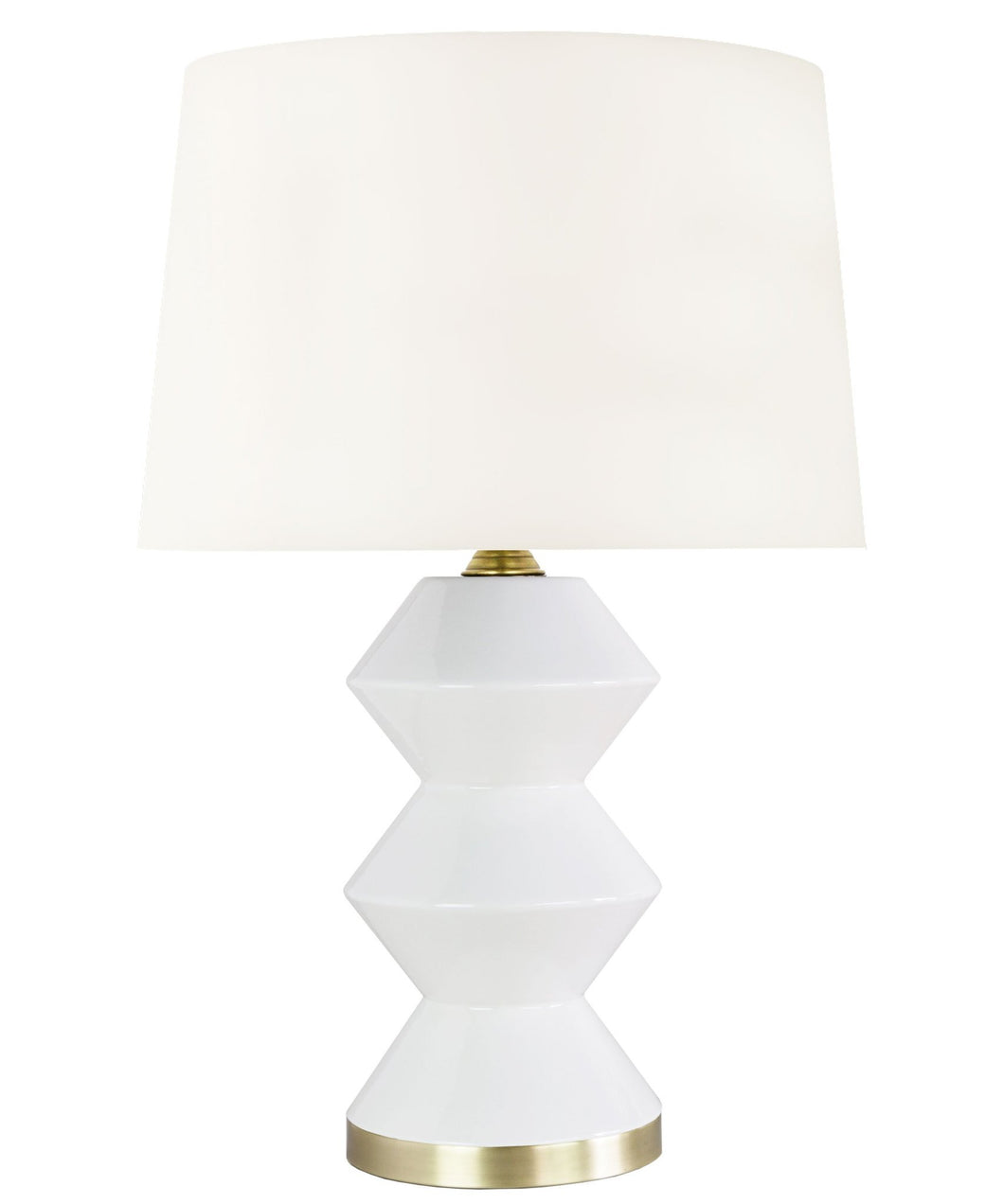 White Derby Table Lamp