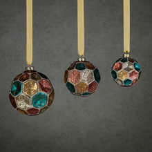 Load image into Gallery viewer, Dimpled Multicolored Ornament