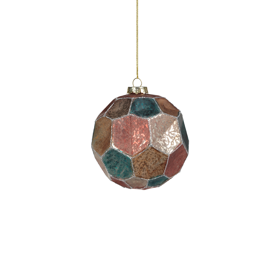 Dimpled Multicolored Ornament
