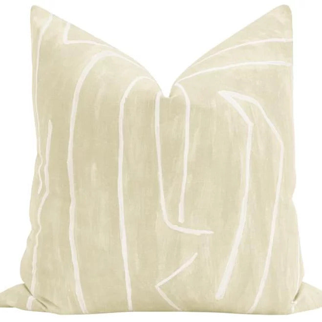 Kelly Wearstler Graffito Beige/Ivory Pillow