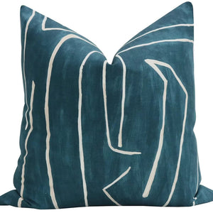 Kelly Wearstler Graffito Teal/Pearl Pillow
