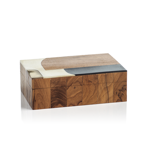Lagos Abstract Inlaid Mango & Sheesham Wood Box