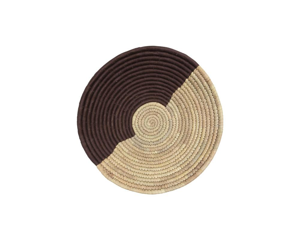 Large Raffia Basket - Brown/Cream