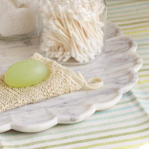 Large Marble Petal Tray