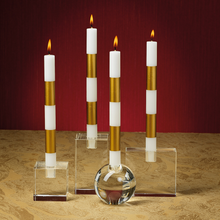 Load image into Gallery viewer, Modern & Festive Formal Gold Candles (Set of 6)