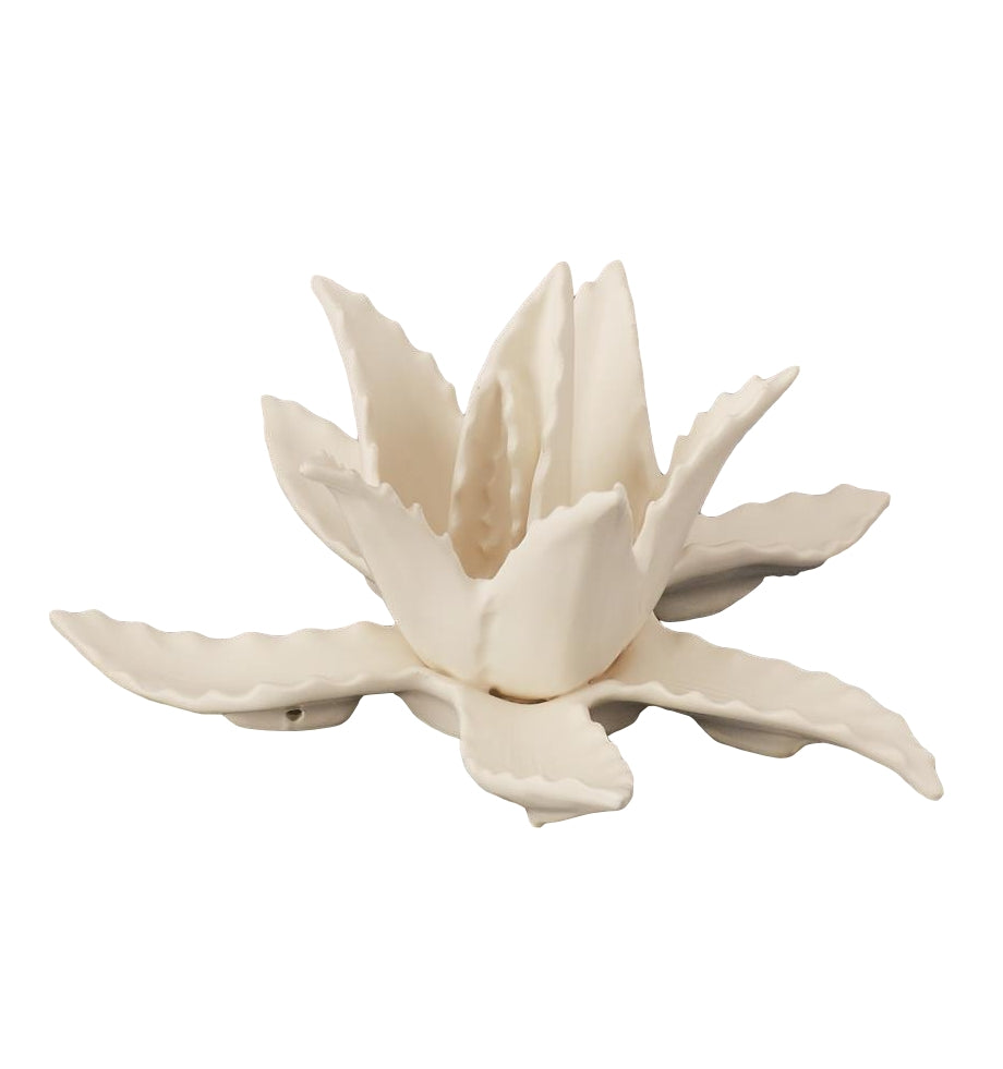 Small Matte White Agave Sculpture