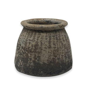 "Antique Soapstone Vase - 6.25"" x 5"""