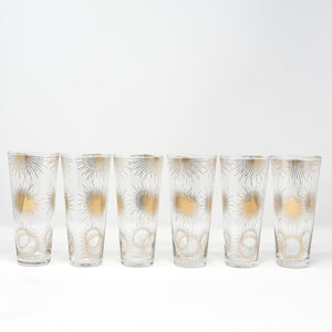 Sunburst Champagne Glasses - Set of 6