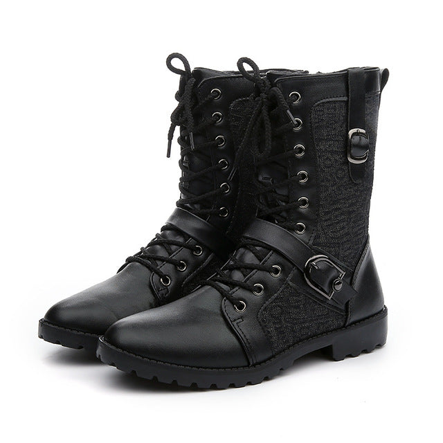 PU Leather Rock Style Motorcycle Boots - MotorsLova | We serve real products for real bikers !