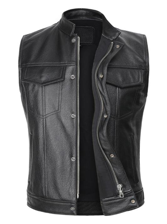Motorcycle Biker Club Leather Vest - MotorsLova | We serve real products for real bikers !