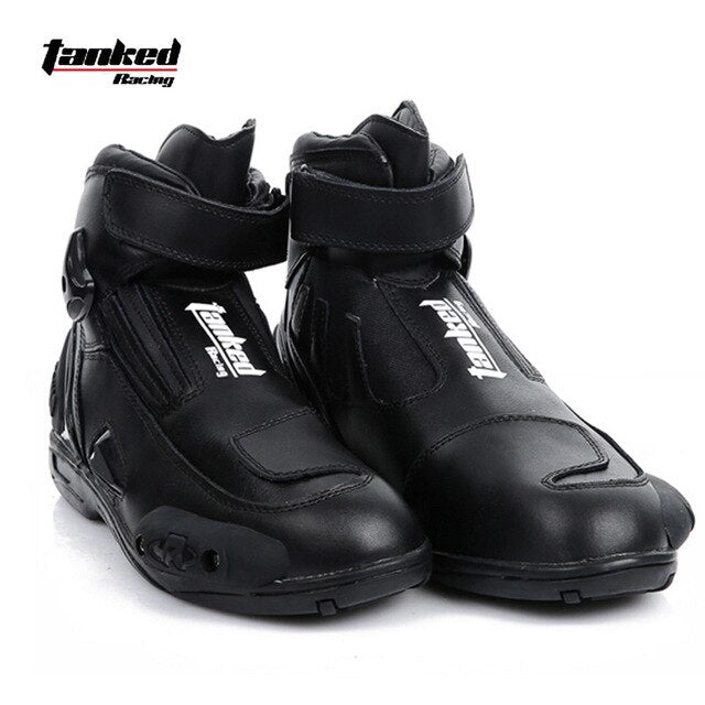 New Leather Short Moto Racing Boots - MotorsLova | We serve real products for real bikers !