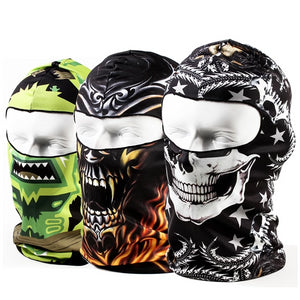 3D Skull Breathable Mask For Bikers - MotorsLova | We serve real products for real bikers !