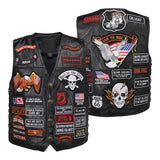 Leather Motorcycle Vest Vintage For Men - MotorsLova | We serve real products for real bikers !