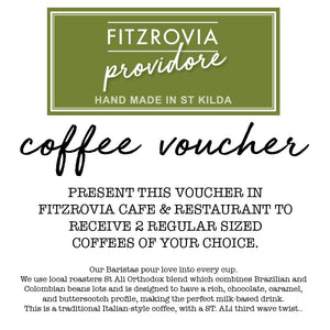 Coffee Voucher for 2