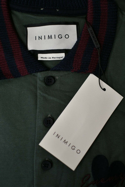 NWT Inimigo Classic Enemy Love Polo Shirt Thyme Green Medium