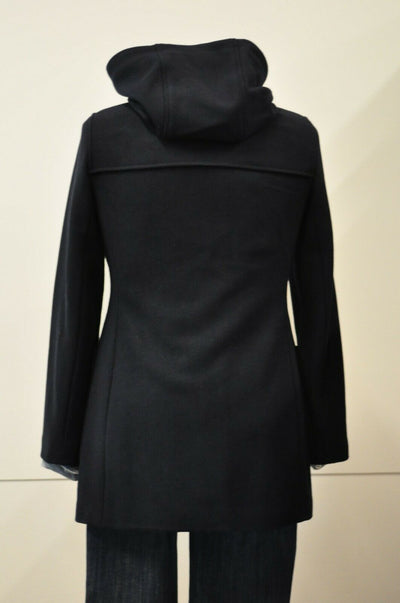 NWT Brooks Brothers Wool Blend Navy Blue Toggle Coat Winter Parka Womens