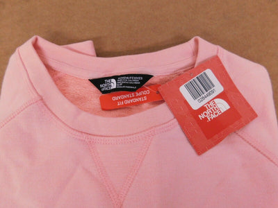 NWT The North Face Terry Crew Neck Sweatshirt Standard Fit Ballet Pink Womens