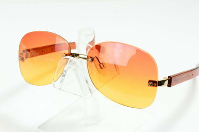 NOS Vintage Fornarina Orange Rimless Sunglasses Jane 23S Col GS 55/15
