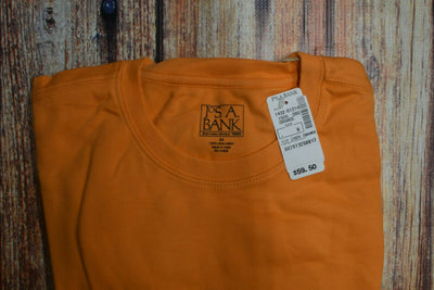 NWT Jos A Bank Classic VIP Pima Cotton T Shirt Orange Medium
