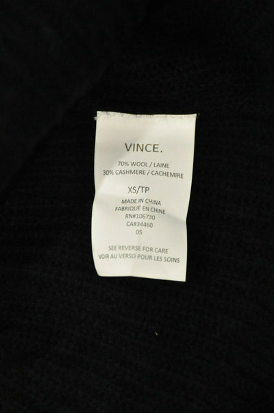 NWT $395 Vince Wool Cashmere Sweater Large Heather Gray Mock Neck