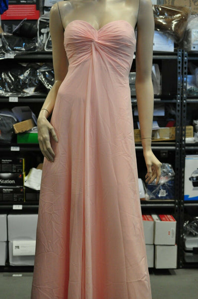 NWT Faviana Light Ice Pink Strapless Dress Prom Formal Evening Party Long