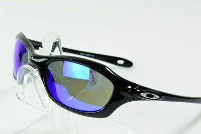 Display Model Oakley XS Five Polished Black Blue Iridium 03-450 RARE Sunglasses